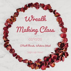 Wreath Making Class Instagram Square Crafts