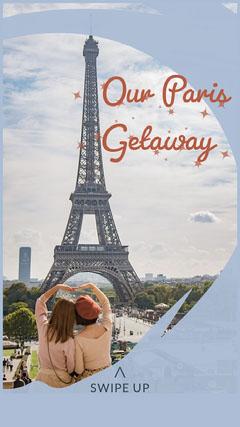Blue Paris Getaway Instagram Story Instagram Story