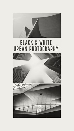 Black and White Urban Photography Social Post Black And White
