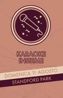 community karaoke event poster  Poster