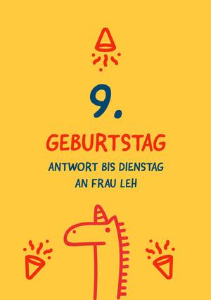 boys unicorn birthday cards  Geburtstagskarte mit Einhörnern