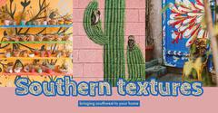 Interior Design Blog Post Graphic with Collage Cactus