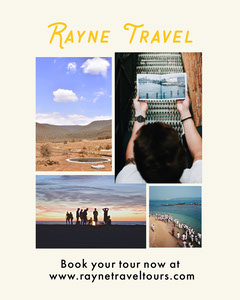 Travel Agency Instagram Portrait Ad with Collage Travel Agency