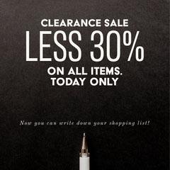 Black Less 30% Sale Instagram Square  Promotion