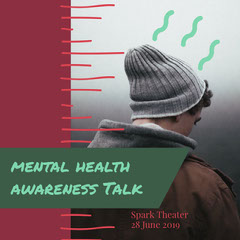 mental health<BR>awareness Talk Health Posters