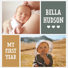 Neutral Colors Baby's First Year Instagram Square Baby's First Year