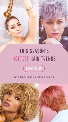 Violet With Portraits Hair Trends Advertisement Guide