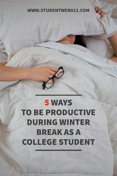 White and Grey, Light Toned, Student Winter Break Tips, Pinterest  Winter