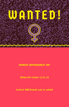 Red and Purple Feminist Art Wanted Flyer Art