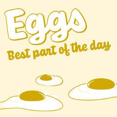 Yellow Illustrated Breakfast Egg Instagram Square Graphic Breakfast
