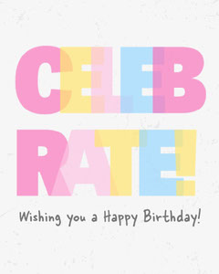 Colourful Animated Celebrate Wishing You a Happy Birthday Instagram Portrait Celebration