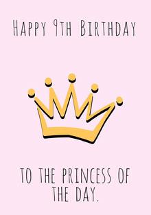 Princess Birthday Card Cartão de aniversário