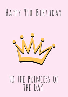 Princess Birthday Card Tarjeta de cumpleaños