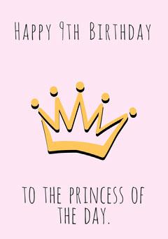 Princess Birthday Card Birthday