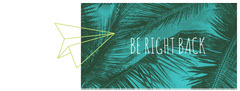 Turquoise Tropical Facebook Profile Cover with Palms Planes