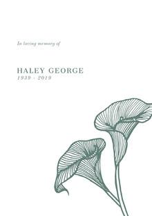 HALEY GEORGE Programa funerario