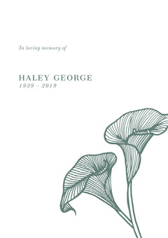 HALEY GEORGE In Loving Memory