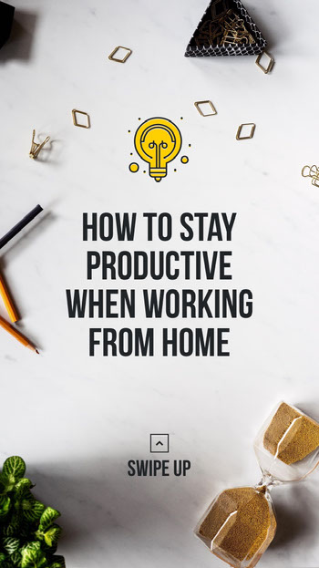 work from home tips instagram story COVID-19