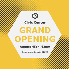 Yellow Geometric Grand Opening Instagram Square  Grand Opening Flyer