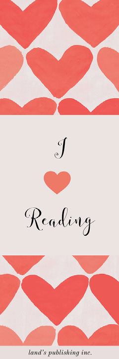 Pink and Red I Love Reading Bookmark with Hearts Heart