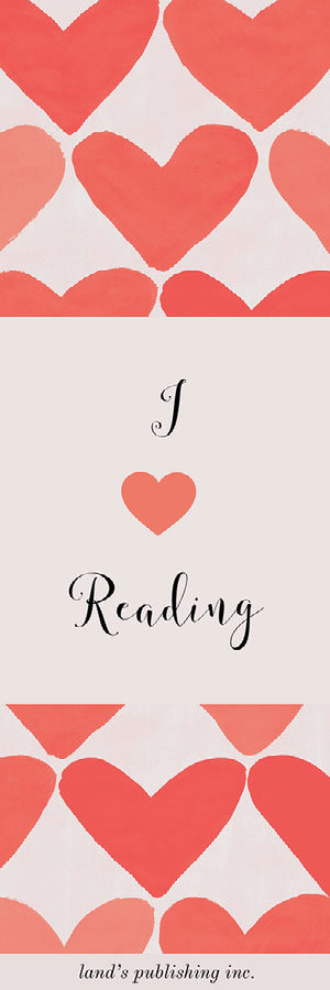 Pink and Red I Love Reading Bookmark with Hearts Bookmark