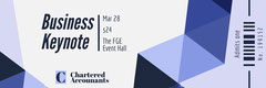 Blue Geometric Business Event Ticket Event Ticket