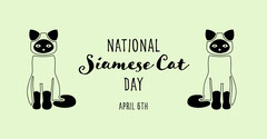 national siamese cat day instagram landscape Cat