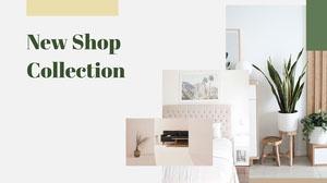 white yellow green furniture home decor minimal shop collection presentation cover  Presentation