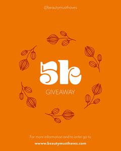 Orange White 5k Giveaway Instagram Portrait  Giveaway