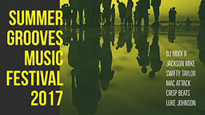 Yellow and Green Music Festival Facebook Banner  Music Banner