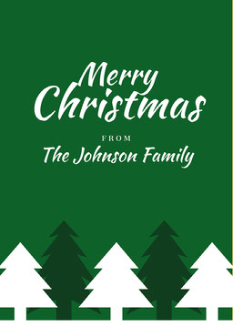 Green Silhouetted Christmas Postcard jeff-test-5