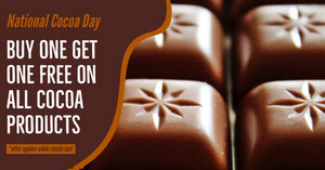 Brown National Cocoa Day Facebook Post Advertisement Flyer