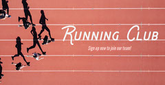 Red Running Track Facebook Advert Exercises
