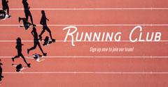 Red Running Track Facebook Advert Sports