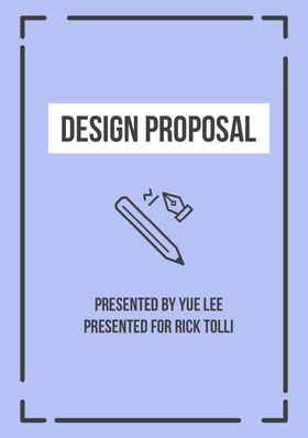 Violet Black and White Design Proposal Forslag
