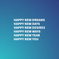 Blue and White, Light Toned, Happy New Year Wishes, Instagram Post Happy New Year Quotes