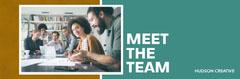 Green & Gold Block Color Meet the Team Web Banner Teams