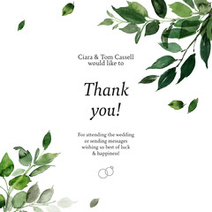 Cassell Wedding Thank you Instagram Square Thank You Poster
