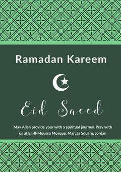 Green and White Ramadan Kareem Flyer Religion