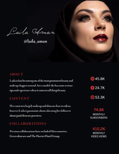 Black Makeup Artist Beauty Media Kit Pinterest  Blogger