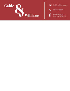 Red Modern Business Letterhead Red