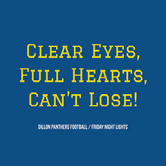 Yellow and Blue Encouraging Sport Cathphrase Instagram Post Game Night Flyer