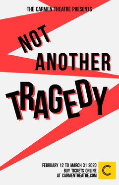 Red Zig Zag Tragedy Theater Play Poster Play Poster
