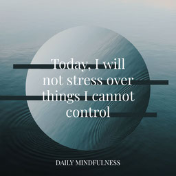 Blue Circle Black Line Mindful Quote Instagram Square