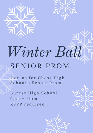 Winter Ball Prom Posters