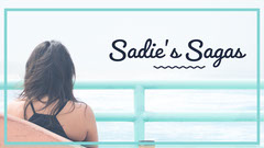 Blue Girl Looking Out to Sea Blog Banner Boats