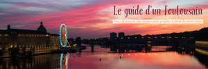 Pink Sunset Toulouse Guide Web Banner Flyer publicitaire