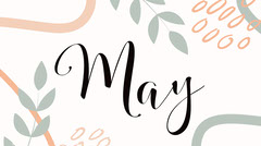 Floral May Spring Twitter Post Graphic Spring