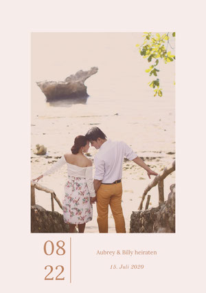 couples photo save the date card Karte