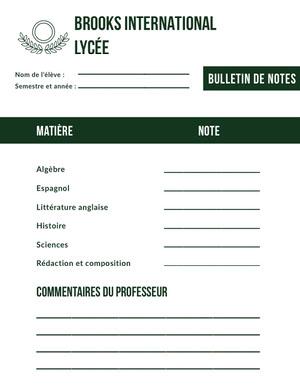 international high school report cards Bulletin de notes